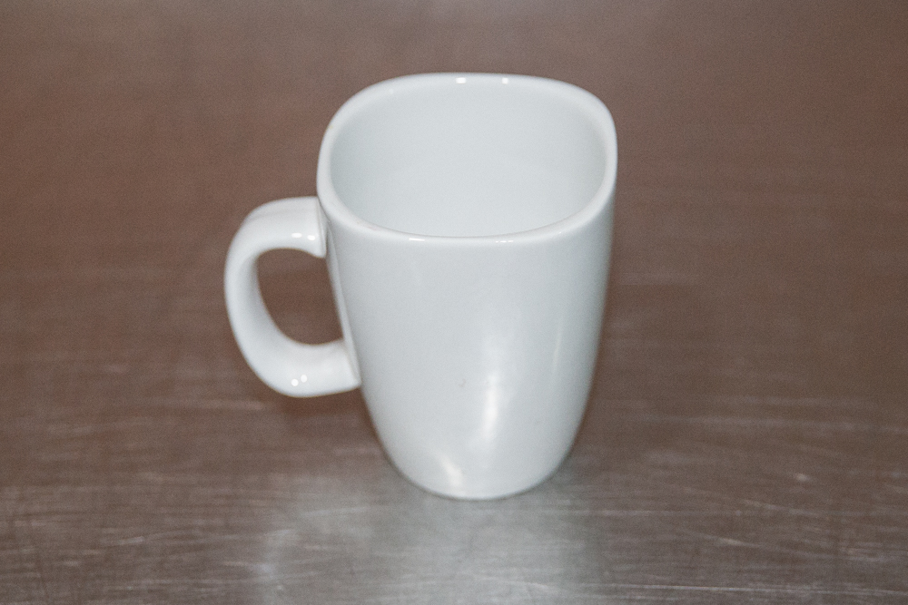 white coffee mug with handle