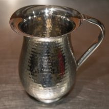 Water Pitcher Hammered Stainless