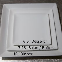 Dessert Plate 6.50 inches – White Square