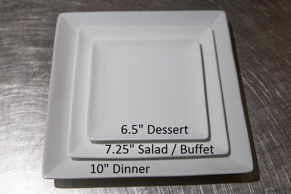 NOVA 535 Inventory 6 7 10-inch white square plates