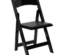 Folding Chair – Padded Seat – Black