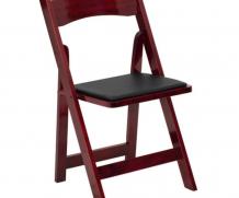 Folding Chair – Padded Seat – Mahogany