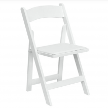 Folding Chair – Padded Seat – White
