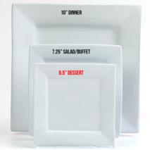 Dessert Plate 6.50 inches – White Square