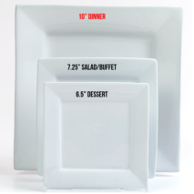 Dinner Plate 10 Inch – White Square