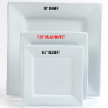 Salad Plate 7.25 Inch – White Square