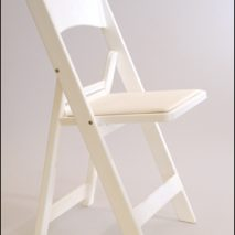 Folding Chair – Padded Seat – Black or White