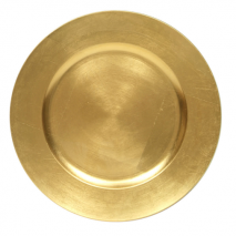 Charger Plate – Gold Lacquer – Round 13 Inch