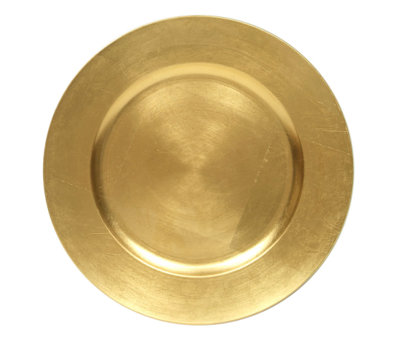 Gold Lacquer Charger 13 inch round