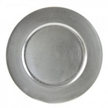 Charger Plate – Silver Lacquer – Round 13 Inch