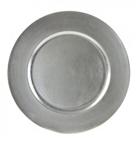 Silver Lacquer Charger 13 inch