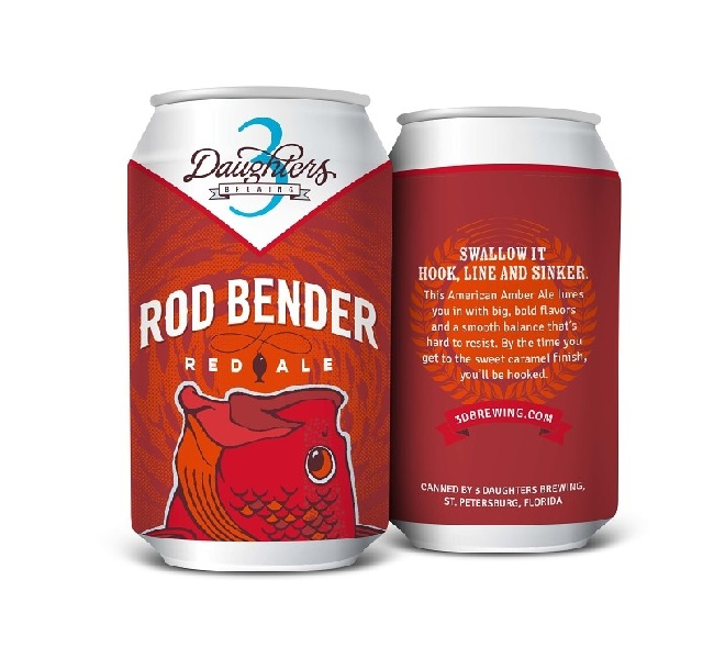 3 Daughters Brewing - Rod Bender- Red Ale Beer