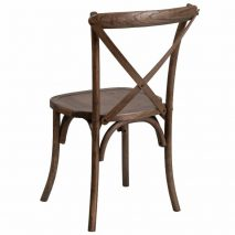 Tuscan Cross Back Wood Chair