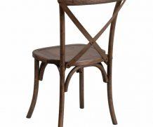 Tuscan Cross Back Wood Chair